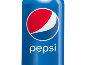 puszka niebieska pepsi z z czerwono niebiesko białym kółkiem, można ją wypić w Krakowie