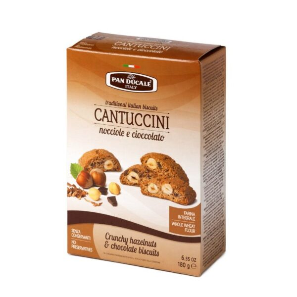 Suche ciasteczka z orzechami laskowymi i czekoladą