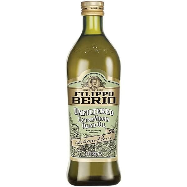 Na białym tle butelka OLIO DI OLIVA UNFILTERED EV FILIPPO BERIO, 1L