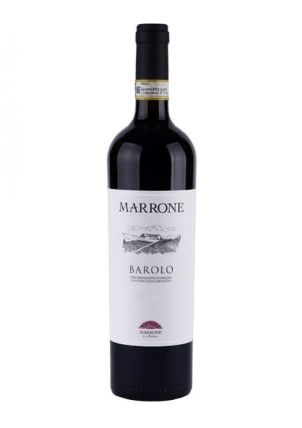 Na białym tle czerwone wytrawne wino Barolo DOCG