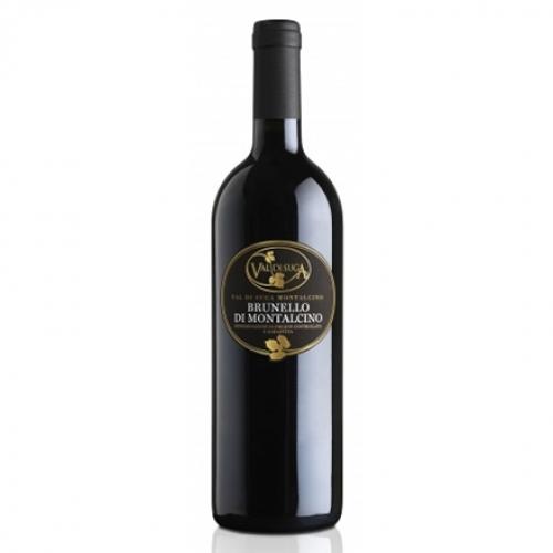 na białym tle czerwone wytrawne wino Brunello di Montepulciano DOCG Riserva