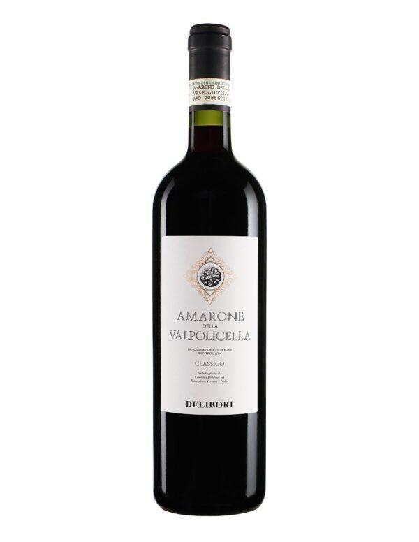 Na białym tle czerwone wino wytrawne Amarone Valpolicella DOCG